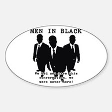 Men In Black 3 Oval Decal
