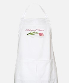 Pink Tulip Matron of Honor BBQ Apron