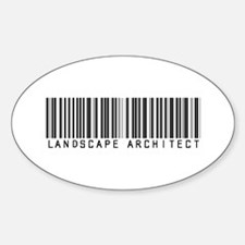 Landscape Architect Barcode Oval Decal