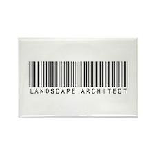 Landscape Architect Barcode Rectangle Magnet