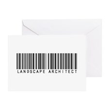Landscape Architect Barcode Greeting Card