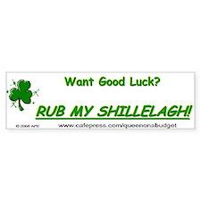 Rub My Shillelagh Bumper Bumper Sticker