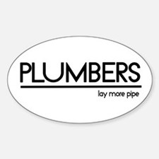 Plumber Joke #1 Oval Decal