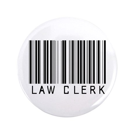 """Law Clerk Barcode 3.5"""" Button (100 pack)"""