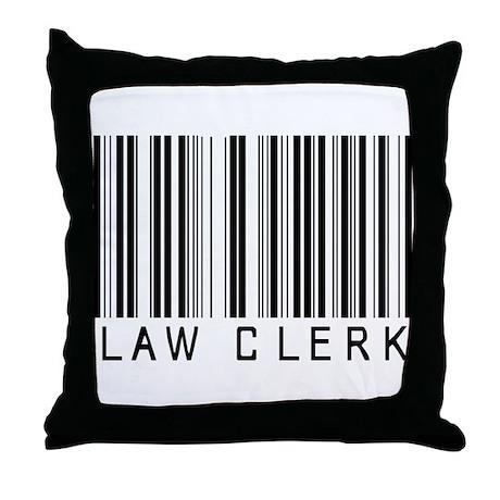 Law Clerk Barcode Throw Pillow