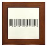 Law Enforcement Ofcr Barcode Framed Tile