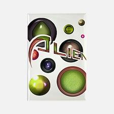 Alien Orbs 3 Rectangle Magnet