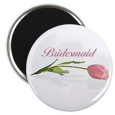 Pink Tulip Bridesmaid Magnet