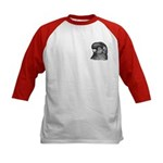 Ancient Shortface Pigeon Kids Baseball Jersey