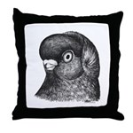 Ancient Shortface Pigeon Throw Pillow
