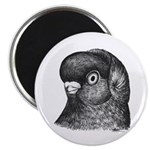 "Ancient Shortface Pigeon 2.25"" Magnet (10 pac"