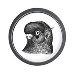Ancient Shortface Pigeon Wall Clock