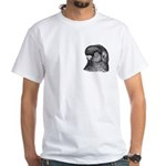 Ancient Shortface Pigeon White T-Shirt