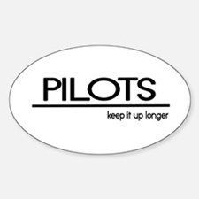 Pilot Joke Oval Decal