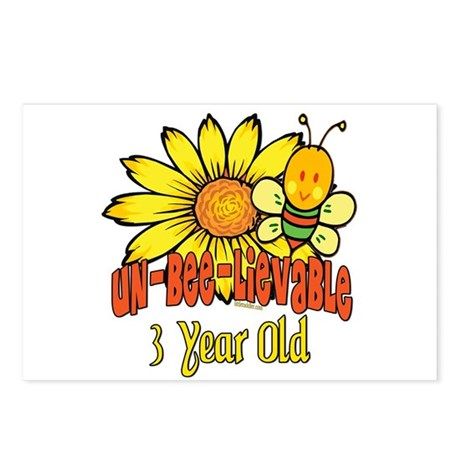 Un-Bee-Lievable 3rd Postcards (Package of 8)
