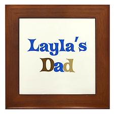 Layla's Dad Framed Tile