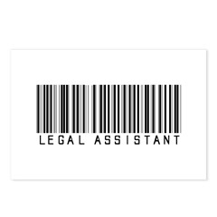 Legal Assistant Barcode Postcards (Package of 8)