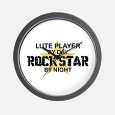 Lute Player Rock Star Wall Clock