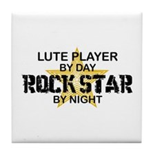 Lute Player Rock Star Tile Coaster