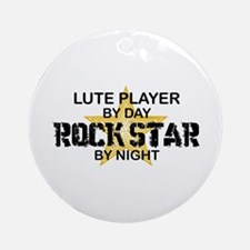 Lute Player Rock Star Ornament (Round)