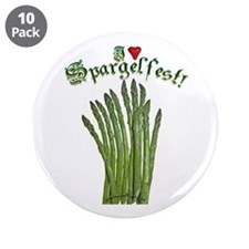 """I Heart Spargelfest! 3.5"""" Button (10 pack)"""