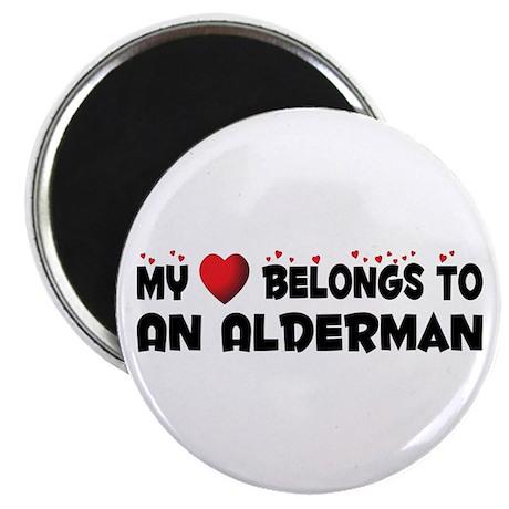 """Belongs To An Alderman 2.25"""" Magnet (10 pack)"""
