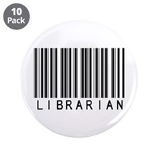 """Librarian Barcode 3.5"""" Button (10 pack)"""