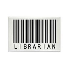 Librarian Barcode Rectangle Magnet