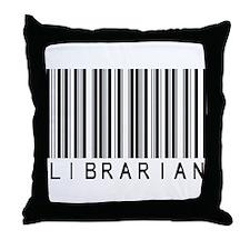 Librarian Barcode Throw Pillow