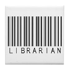 Librarian Barcode Tile Coaster