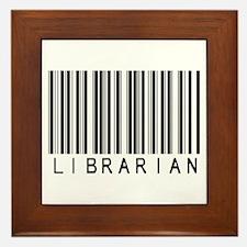Librarian Barcode Framed Tile
