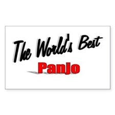 """""""The World's Best Panjo"""" Rectangle Decal"""