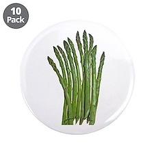 """Fresh Asparagus Fan 3.5"""" Button (10 pack)"""