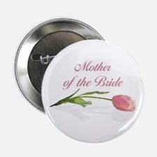 Pink Tulip Mother of Bride Button