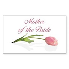 Pink Tulip Mother of Bride Rectangle Decal
