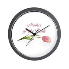 Pink Tulip Mother of Bride Wall Clock