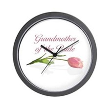 Pink Tulip Grandmother of Bride Wall Clock