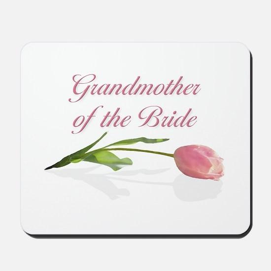 Pink Tulip Grandmother of Bride Mousepad