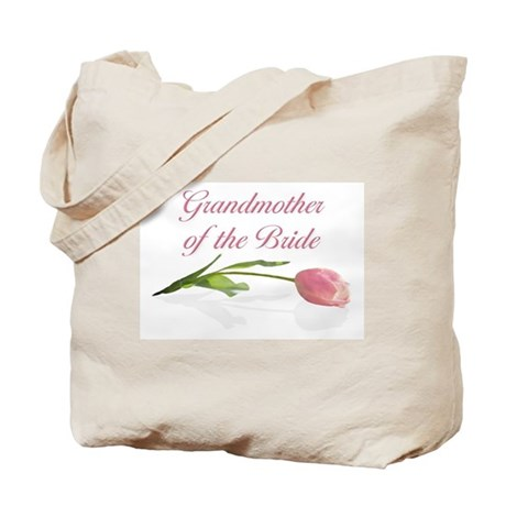 Pink Tulip Grandmother of Bride Tote Bag