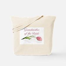 Pink Tulip Grandmother of Bride Tote Bag