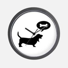 Basset Hound Treat Wall Clock