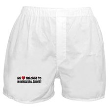 Belongs To An Agricultural Scientist Boxer Shorts