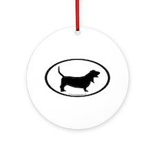 Basset Hound Oval Ornament (Round)