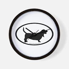 Basset Hound Oval Wall Clock