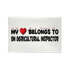 Belongs To An Agricultural Inspector Rectangle Mag