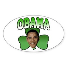 Obama Shamrock Oval Decal
