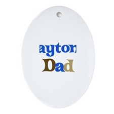 Payton's Dad Oval Ornament