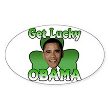 Get Lucky Obama Oval Decal