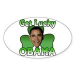 Get Lucky Obama Oval Sticker