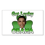 Get Lucky Obama Rectangle Sticker